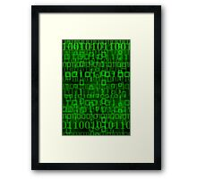 Malachite Datastream Framed Print
