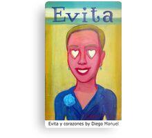 Evita y corazones by Diego Manuel Metal Print
