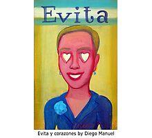 Evita y corazones by Diego Manuel Photographic Print