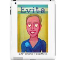 Evita y corazones by Diego Manuel iPad Case/Skin