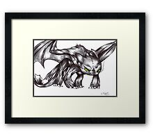 HTTYD - Angry Toothless Framed Print