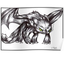HTTYD - Angry Toothless Poster