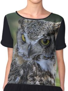 Great Horned Owl  Chiffon Top