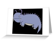 Cute Dumb Behemoth Greeting Card