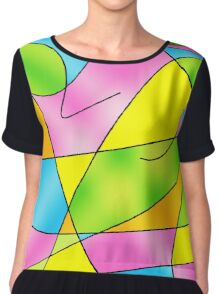 ABSTRACT CURVES-2 (Multicolor Light)-(9000 x 9000 px) Chiffon Top