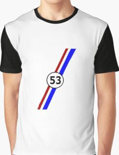 VW 53, the Love Bug's racing stripes and number 53 Graphic T-Shirt