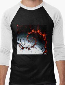 Burnig Fractal Men's Baseball ¾ T-Shirt