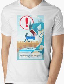 WARNING!!! Mens V-Neck T-Shirt