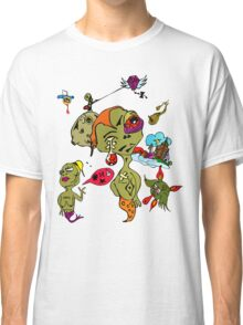 Psychedelic Crazy Monster People Art Classic T-Shirt