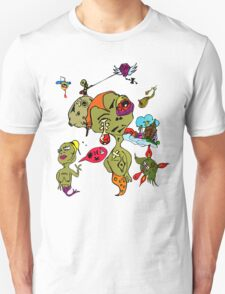 Psychedelic Crazy Monster People Art Unisex T-Shirt