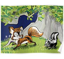 Spunky Little Skunk Poster