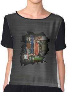 Electrical insides wall crack  Chiffon Top