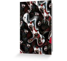 Evil Clown Iphone Case Greeting Card