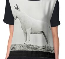 Bull Terrier - all white Chiffon Top