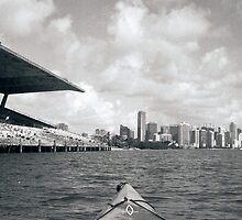 Kayaking at Miami Marine Stadium by Bill Wetmore