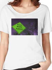 Apocalyptic Traffic Sign Women's Relaxed Fit T-Shirt