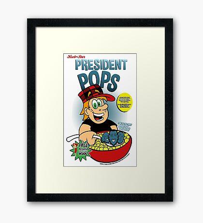 President Pops (Pete and Pete parody) Framed Print