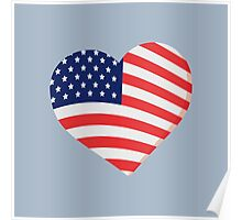 Heart in Stars and Stripes Poster