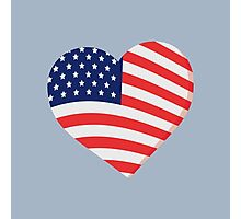 Heart in Stars and Stripes Photographic Print
