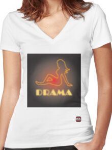 Drama Women's Fitted V-Neck T-Shirt