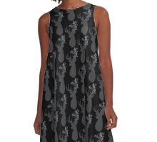 Stag silhouette with Leafy antlers A-Line Dress