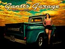1956 Chevy Pickup Calendar Page Featuring Miss Rachel by ChasSinklier