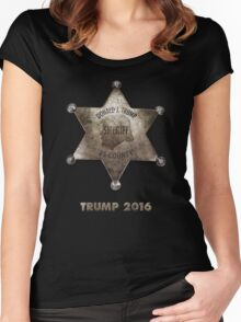 Trump the Sheriff. Women's Fitted Scoop T-Shirt
