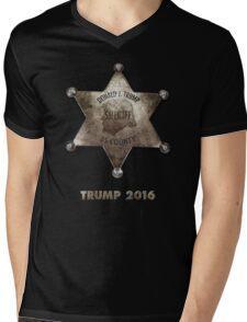 Trump the Sheriff. Mens V-Neck T-Shirt