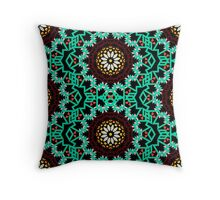 Bohemian pattern with big abstract flowers Throw Pillow