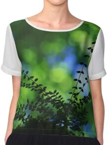 Privet With Sycamore & Sky - Vintage Lens Chiffon Top