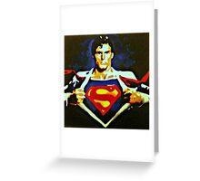 Becoming Superman Greeting Card