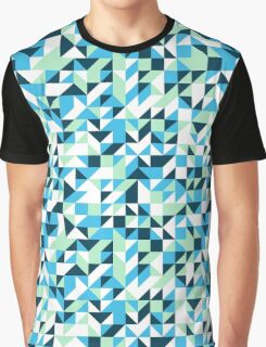 Small mosaic pattern in blue Graphic T-Shirt