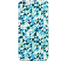 Small mosaic pattern in blue iPhone Case/Skin