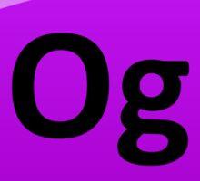 Oganesson - Element 118 Periodic Table Symbol Sticker