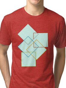 Squares maroon version Tri-blend T-Shirt