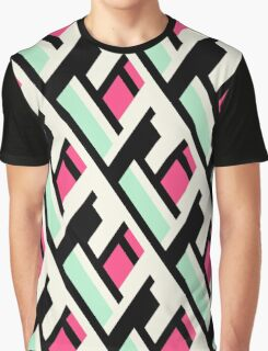 Color blocked bold pattern Graphic T-Shirt