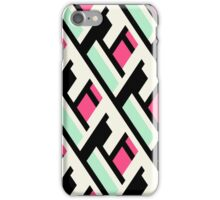 Color blocked bold pattern iPhone Case/Skin