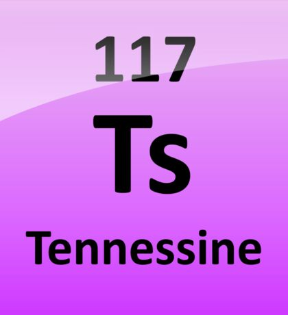 Tennessine or Element 117 Periodic Table Symbol Sticker