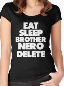 Eat Sleep Brother Nero Delete Women's Fitted Scoop T-Shirt