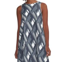 Bold pattern with architectural motifs A-Line Dress