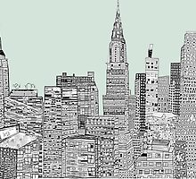 new york vintage skyline  by bri-b