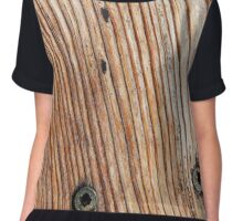 Wood Grain Chiffon Top