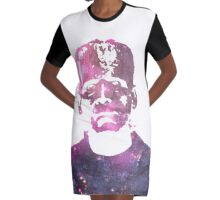 Galaxy Boris Karloff Frankenstein Graphic T-Shirt Dress