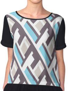 Bold pattern with architectural motifs Chiffon Top