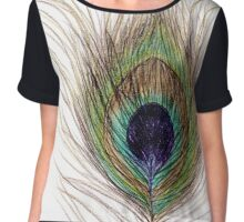 Peacock Feather Chiffon Top