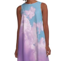 Cotton Candy Sky A-Line Dress