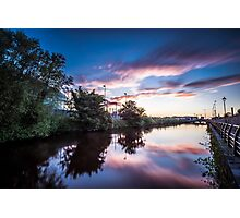 Sunset on the Canal Photographic Print