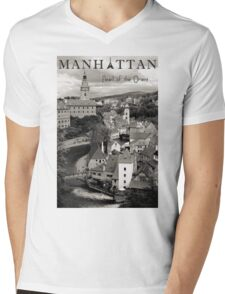 Manhattan - Pearl of the Orient Mens V-Neck T-Shirt