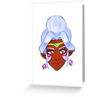 Voltron Allura Greeting Card