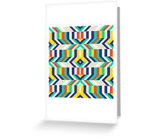 Colorful op art pattern Greeting Card